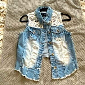Maurices Jean Vest with Lace detailing